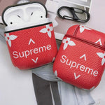 "Load image into Gallery viewer, AirPods Leather ""Supreme"" Case - Emma's Boutique"