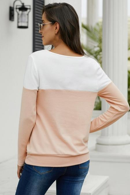 Apricot Button Top - Emma's Boutique