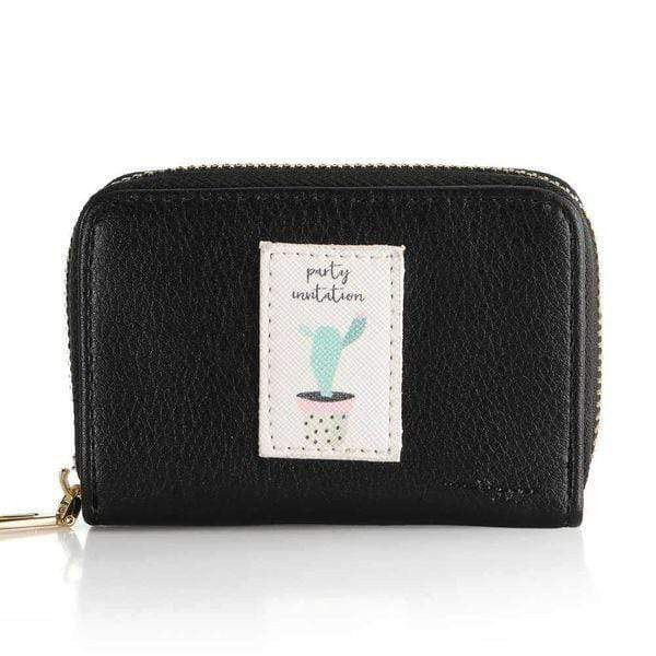 Black Leather Wallet - Emma's Boutique