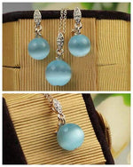 Load image into Gallery viewer, Blue Opal Necklace And Earring Set - Emma's Boutique