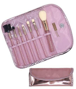 7 pc makeup brush set
