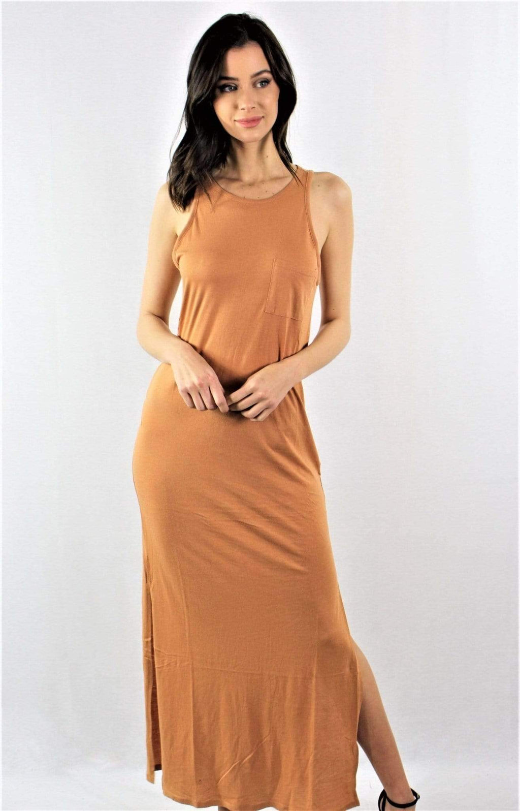 Casual Maxi Dress with Side Slit - Emma's Boutique
