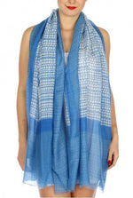Load image into Gallery viewer, Endless rectangles print scarf - Emma's Boutique