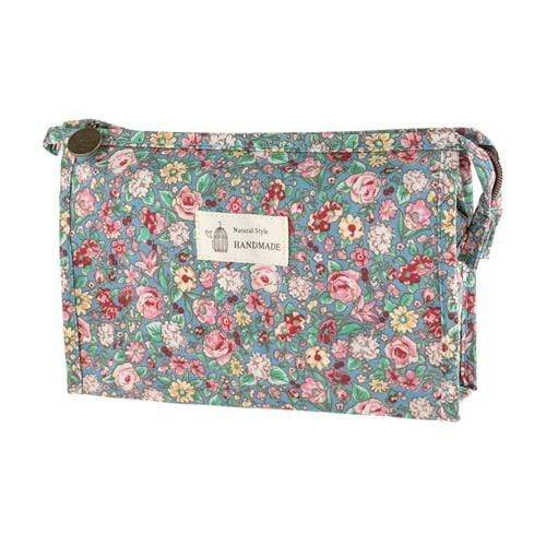 FLORAL COSMETICS BAG- STYLE 1 - Emma's Boutique