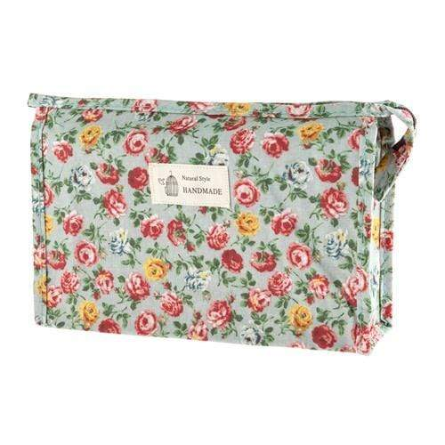 FLORAL COSMETICS BAG - STYLE 4 - Emma's Boutique