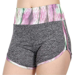 Galaxy print heathered active shorts - Emma's Boutique