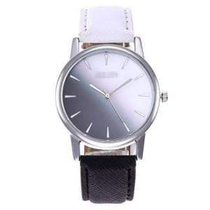 GRADIENT COLORS INDEX DESIGN HIGH FASHION WRIST WATCH - BLACK AND WHITE - Emma's Boutique