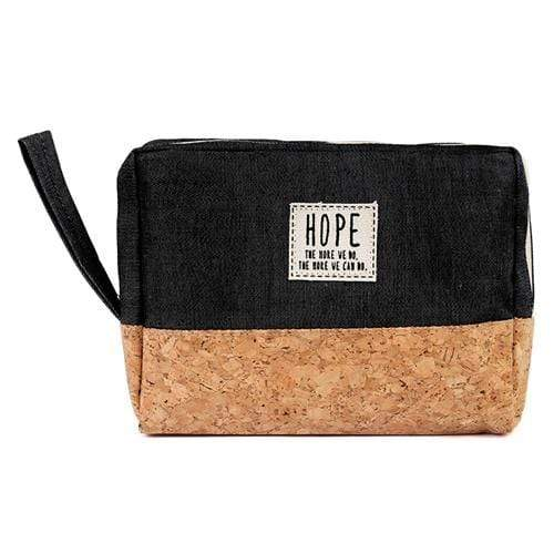 HOPE COSMETIC POUCH-BLACK - Emma's Boutique