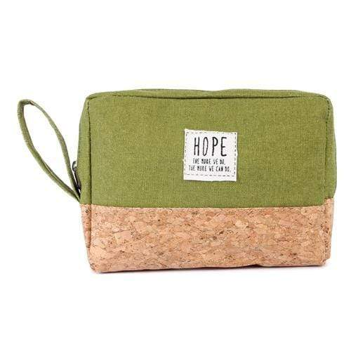 HOPE COSMETIC POUCH-GREEN - Emma's Boutique