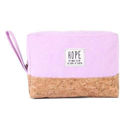 HOPE COSMETIC POUCH-LAVENDER - Emma's Boutique