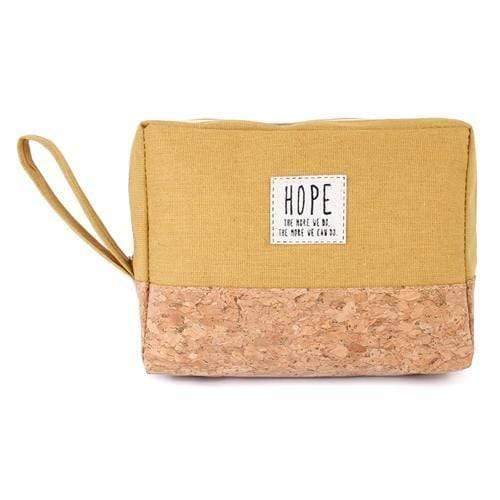 HOPE COSMETIC POUCH-MUSTARD - Emma's Boutique