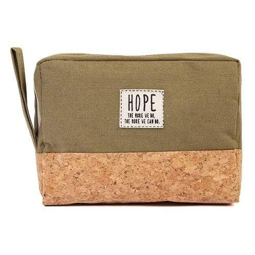 HOPE COSMETIC POUCH-OLIVE - Emma's Boutique