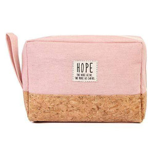 HOPE COSMETIC POUCH-PINK - Emma's Boutique