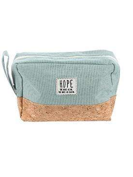 HOPE COSMETIC POUCH-SEAFOAM GREEN - Emma's Boutique