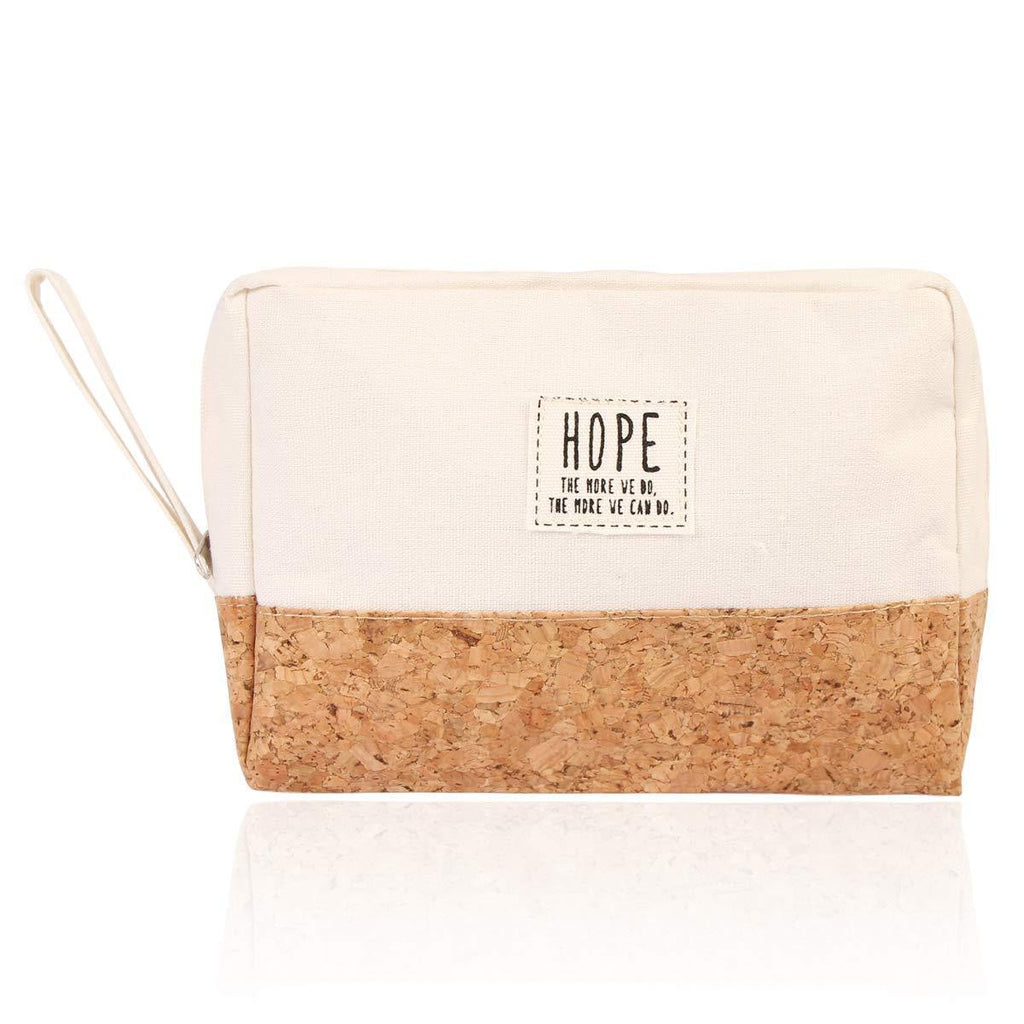 HOPE COSMETIC POUCH-WHITE - Emma's Boutique