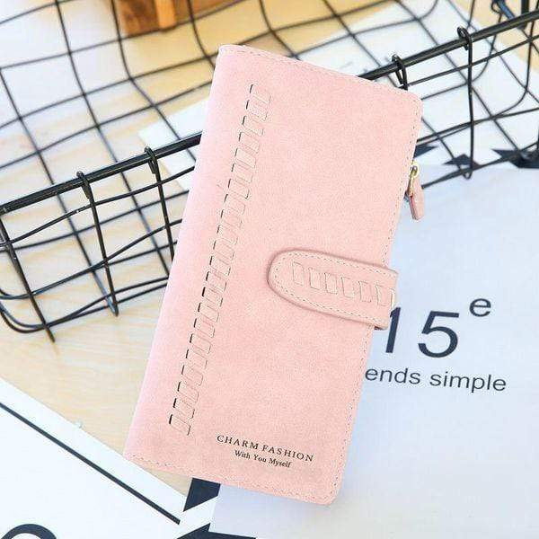 Long Matte Woven Wallet - Emma's Boutique