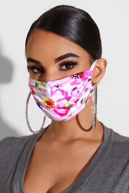 Rose Hue Floral Print Anti-pollution Dust proof Face Mask - Emma's Boutique