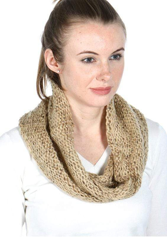 Sequined double layer knit neck warmer - Emma's Boutique