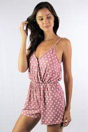Women's Strappy Polka Dot Romper with Pockets - Emma's Boutique