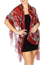 Load image into Gallery viewer, Zebra chain print long scarf - Emma's Boutique