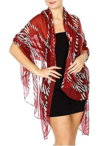 Zebra chain print long scarf - Emma's Boutique
