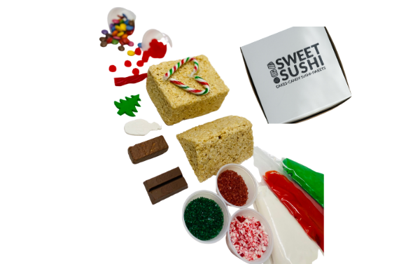 "Puffed Rice ""Gingerbread"" House Kit"