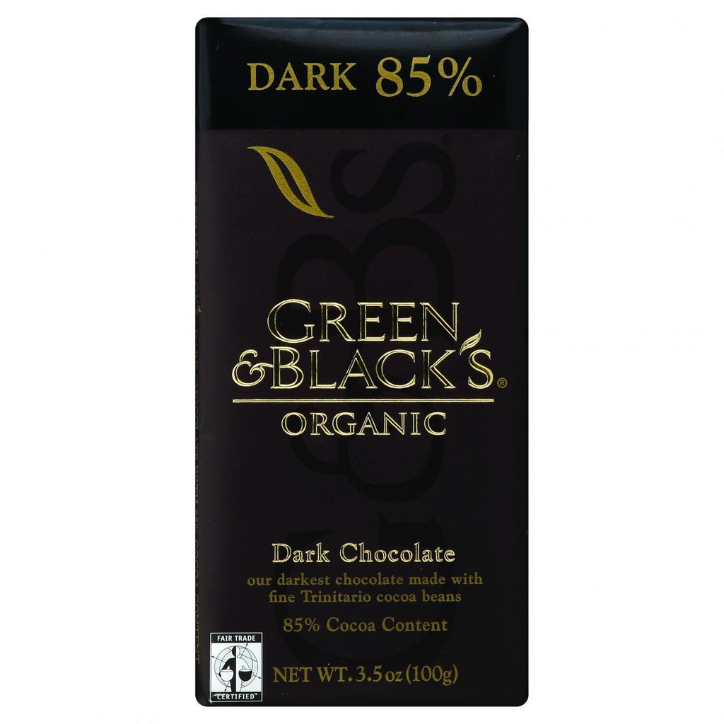 Green And Black's Organic Chocolate Bars - Dark Chocolate - 85 Percent Cacao - 3.5 Oz Bars - Case Of 10