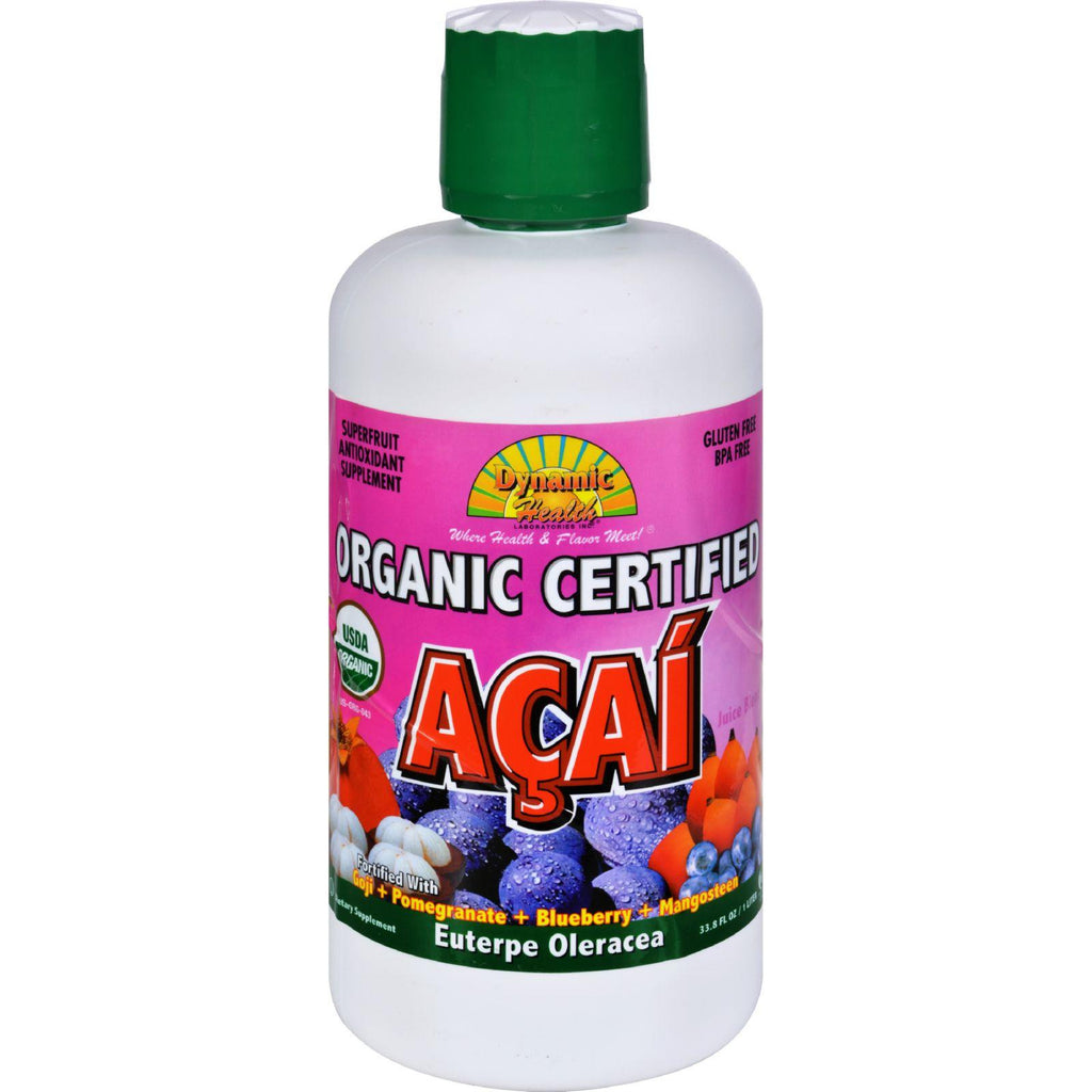 Dynamic Health Organic Certified Acai Berry Juice Blend - 33.8 Fl Oz
