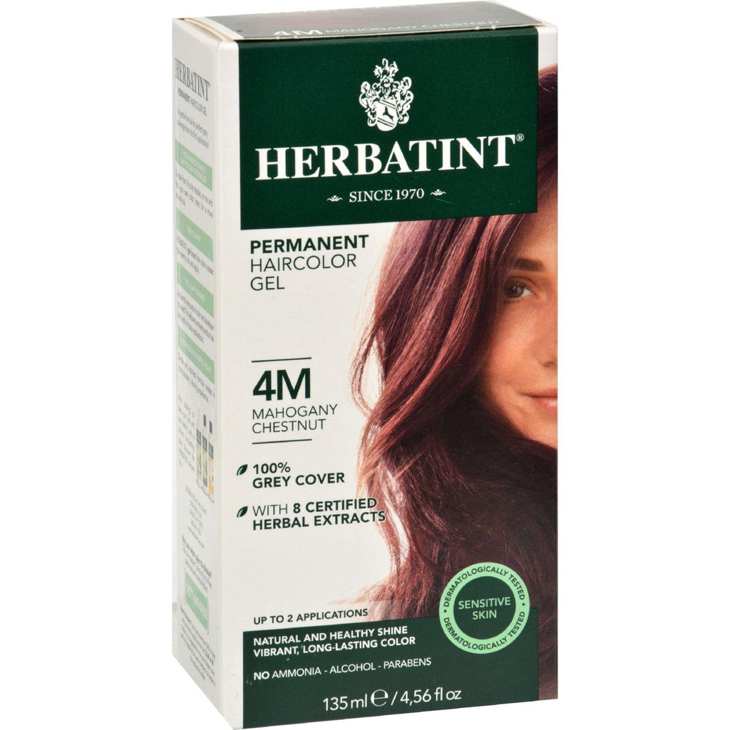 Herbatint Permanent Herbal Haircolour Gel 4m Mahogany Chestnut - 135 Ml