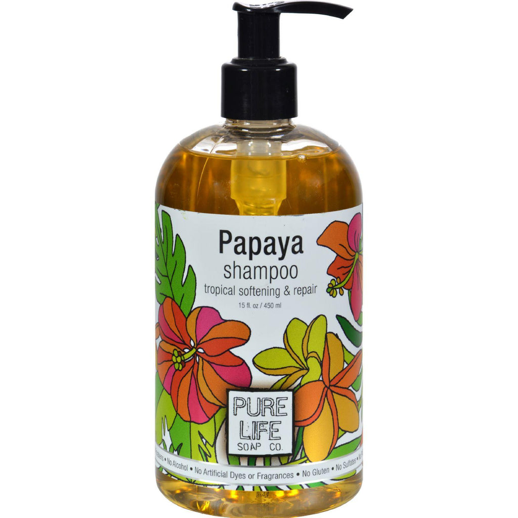 Pure Life Shampoo Papaya - 14.9 Fl Oz