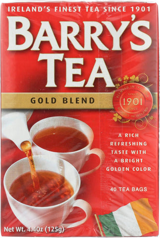 Barry's Tea Irish Tea - Gold Blend - Case Of 12 - 40 Bags