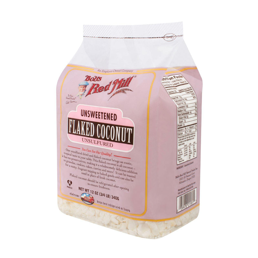 Bob's Red Mill Flaked Coconut (unsweetened) - 12 Oz - Case Of 4