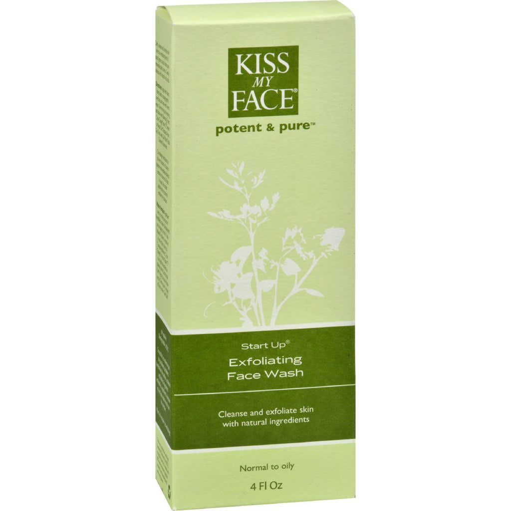 Kiss My Face Exfoliating Face Wash Start Up - 4 Fl Oz
