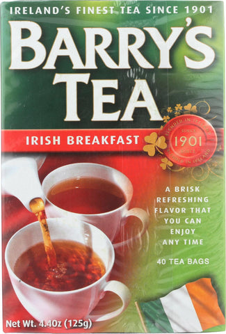 Barry's Tea Irish Tea - Irish Breakfast - Case Of 12 - 40 Bags