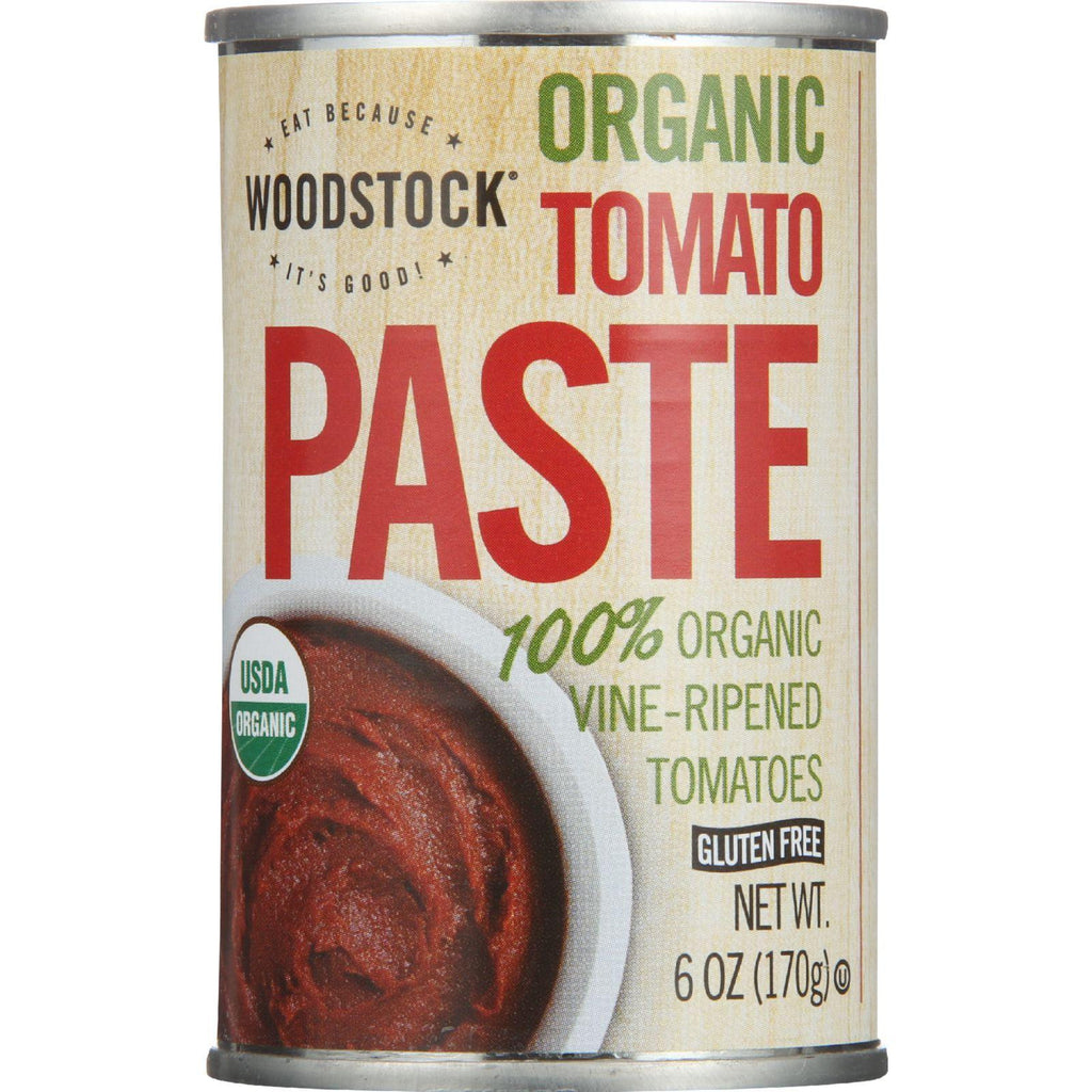 Woodstock Tomato Paste - Organic - 6 Oz - Case Of 24
