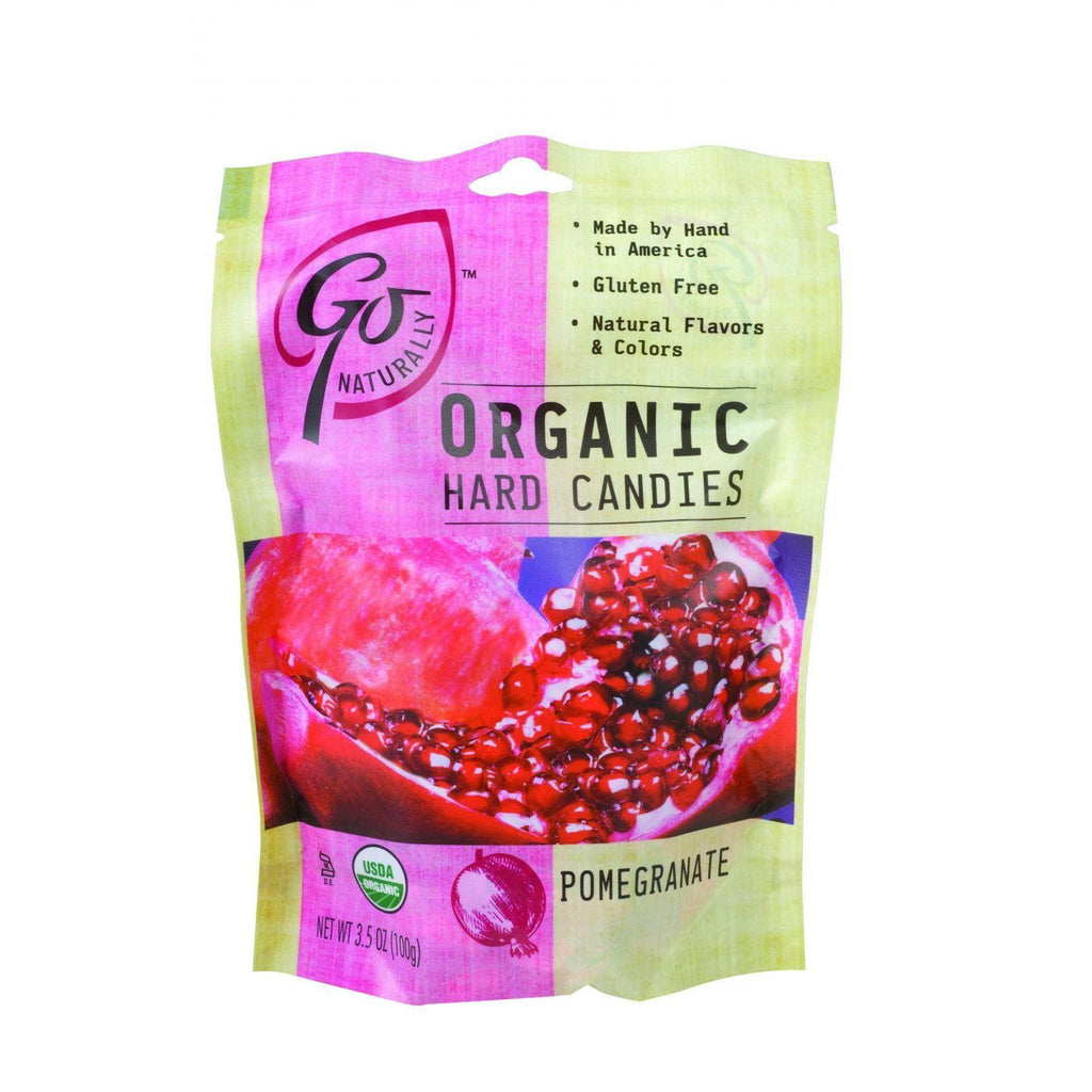 Go Organic Hard Candy - Pomegranate - 3.5 Oz - Case Of 6