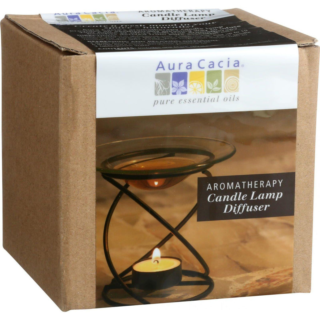 Aura Cacia Spiral Candle Lamp - Black - 1 Count