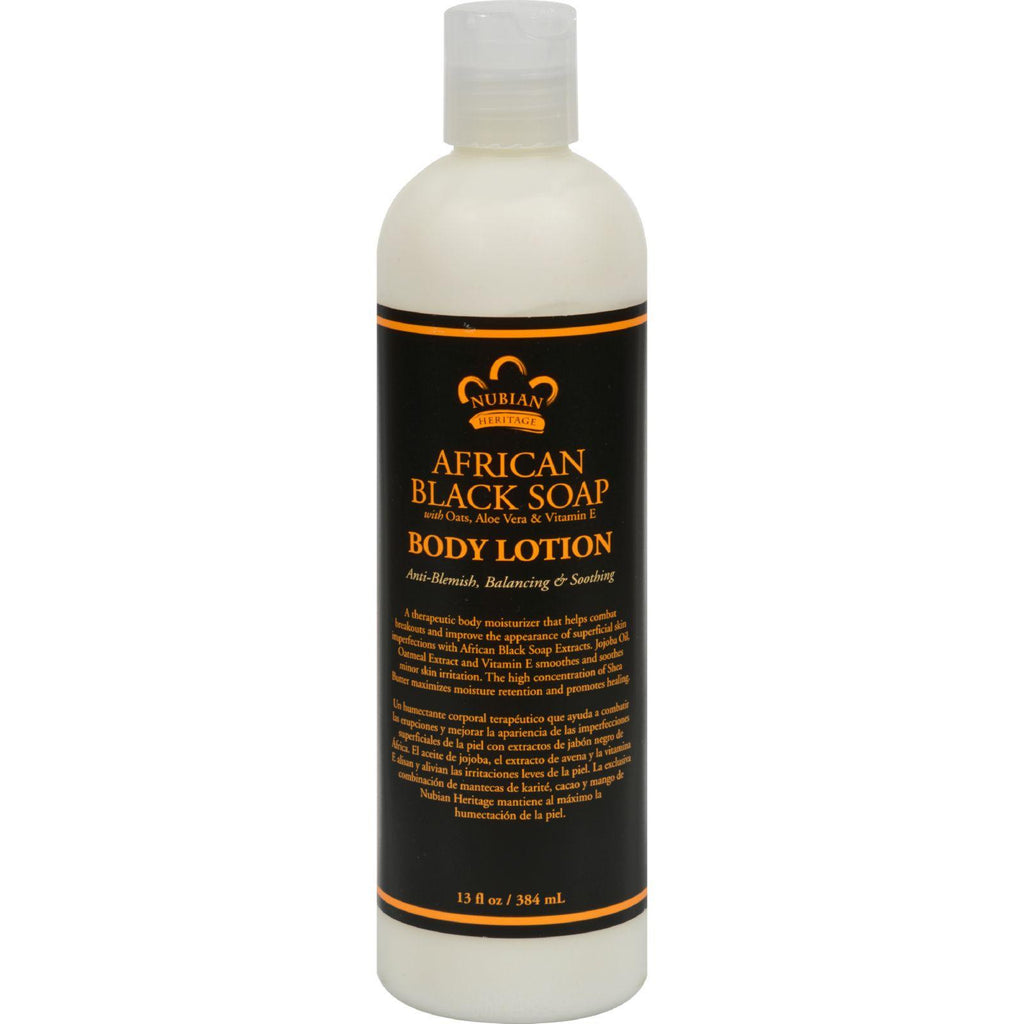 Nubian Heritage Lotion - African Black Soap - 13 Oz