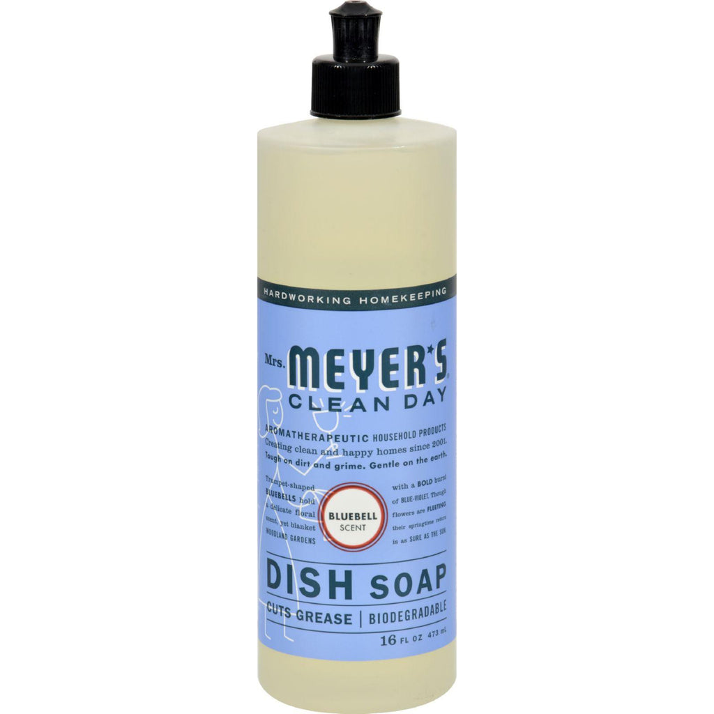 Mrs. Meyer's Liquid Dish Soap - Bluebell - Case Of 6 - 16 Oz