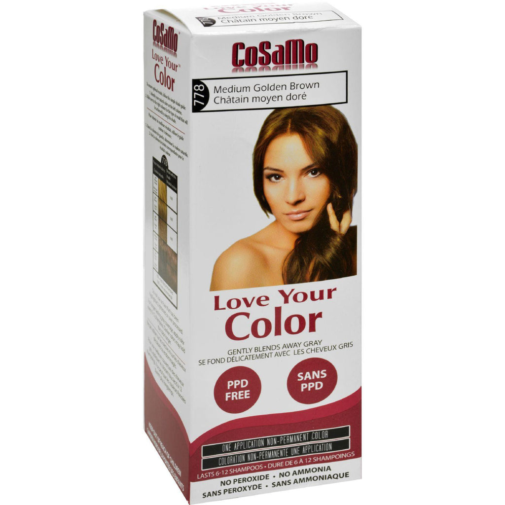 Love Your Color Hair Color - Cosamo - Non Permanent - Med Gold Brown - 1 Ct