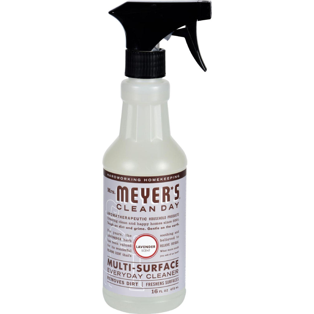 Mrs. Meyer's Multi Surface Spray Cleaner - Lavender - 16 Fl Oz - Case Of 6