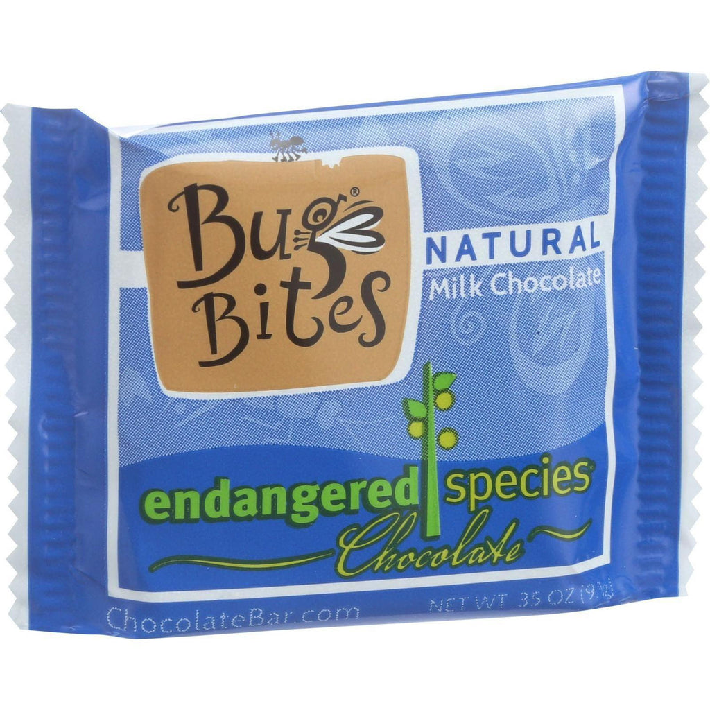 Endangered Species Natural Chocolate Bug Bites - Milk Chocolate - 48 Percent Cocoa - .35 Oz - Case Of 64