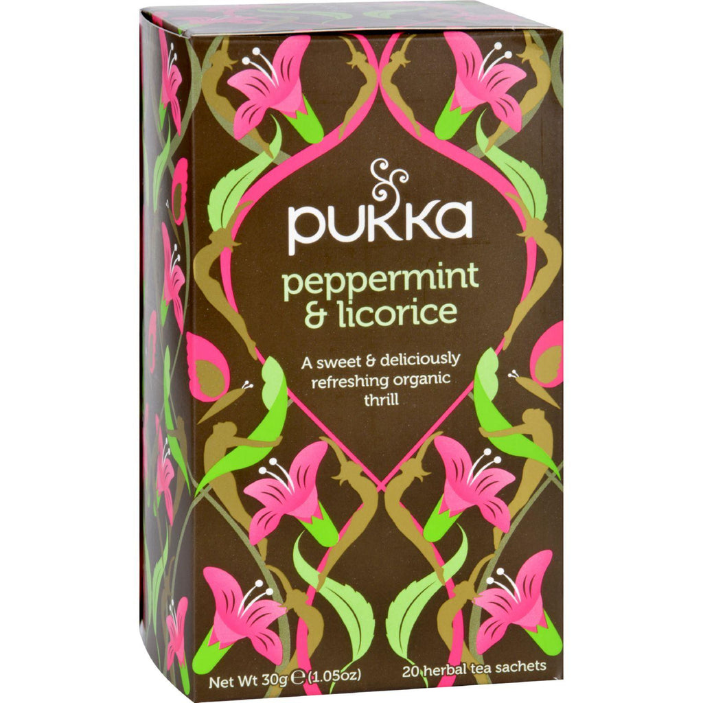 Pukka Herbal Teas Tea - Organic - Peppermint And Licorice - 20 Bags - Case Of 6