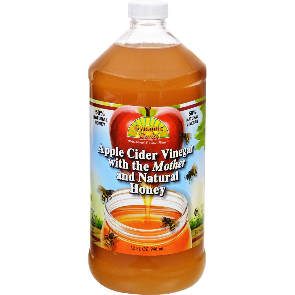 Dynamic Health Apple Cider Vinegar - With The Mother And Natural Honey - Plastic Bottle - 32 Oz