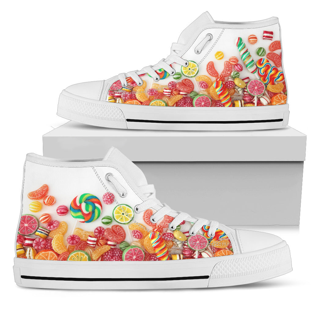 Candy White High Tops