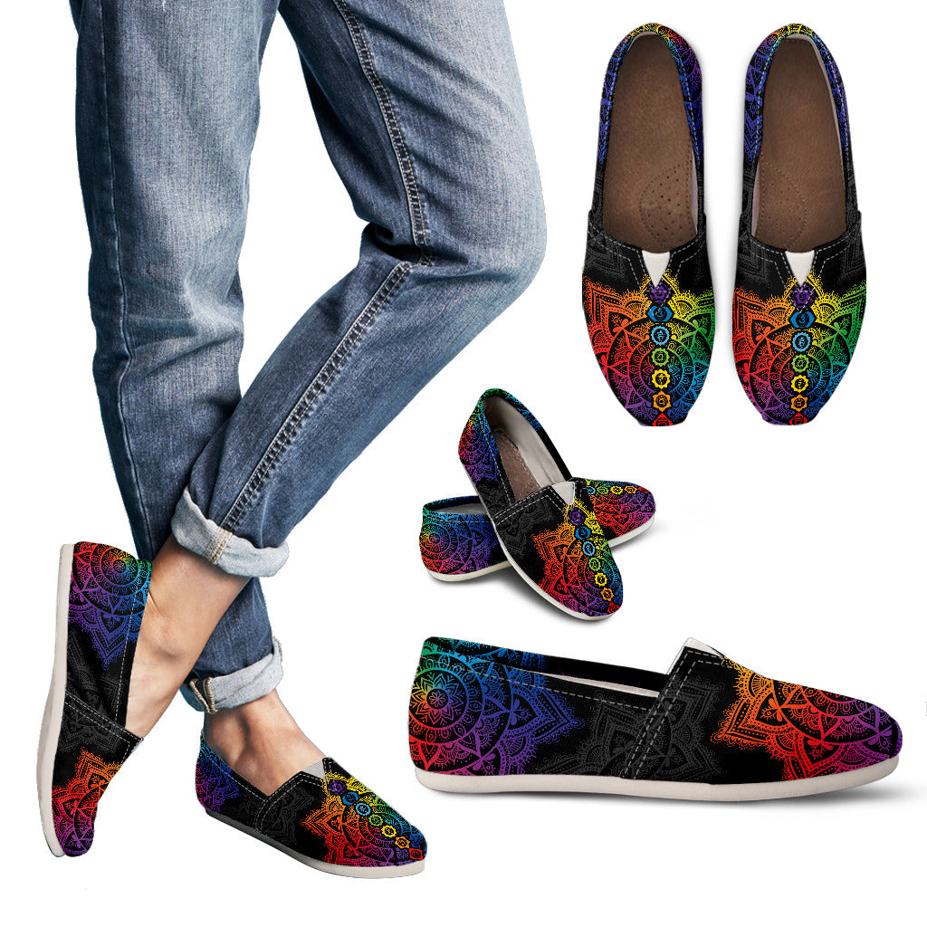 Chakra Mandala  Handcrafted Casual shoes