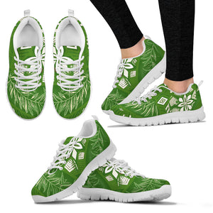 Green tropical sneakers