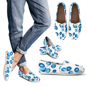 Women's blue casual shoes