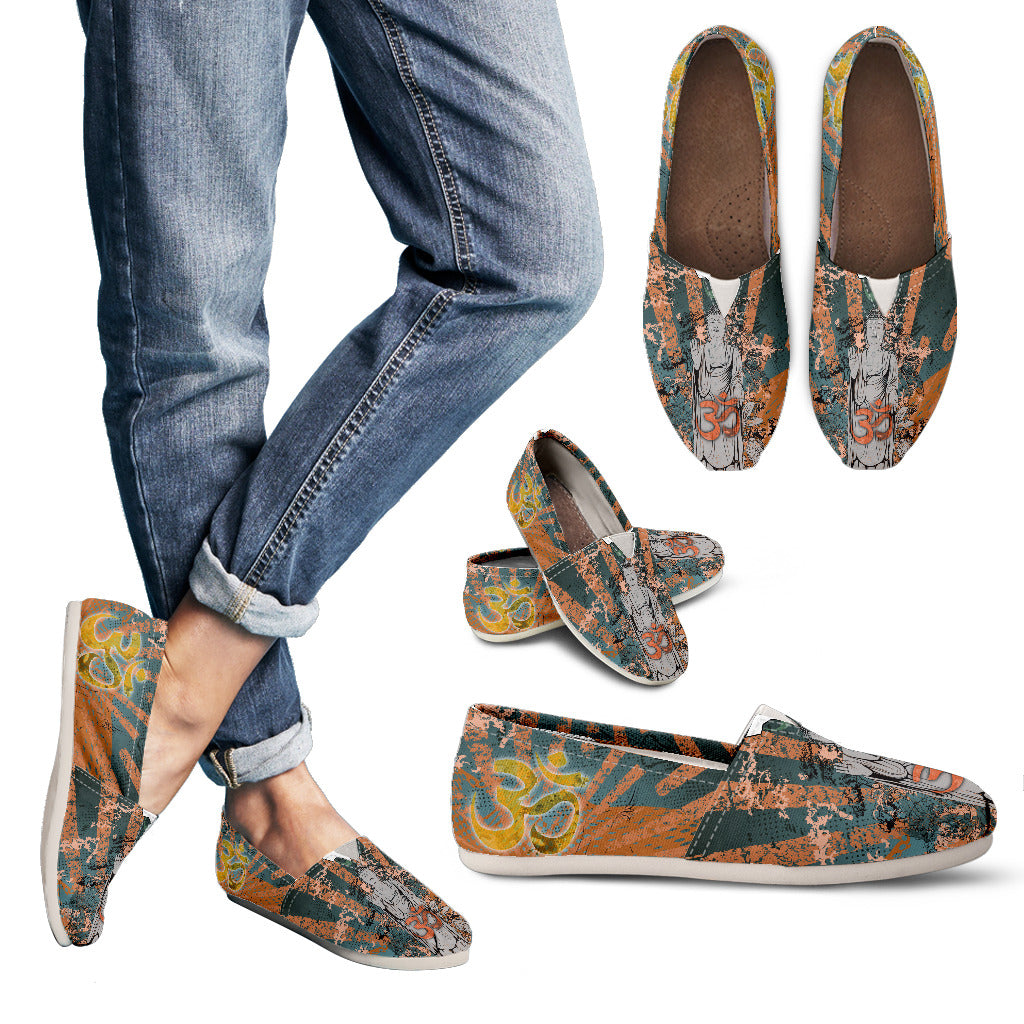 Buddha Statue Om Women's Casual Shoes