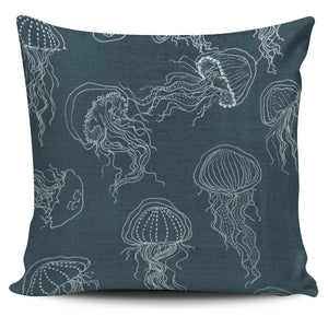 The Jellyfish Pillow Blue